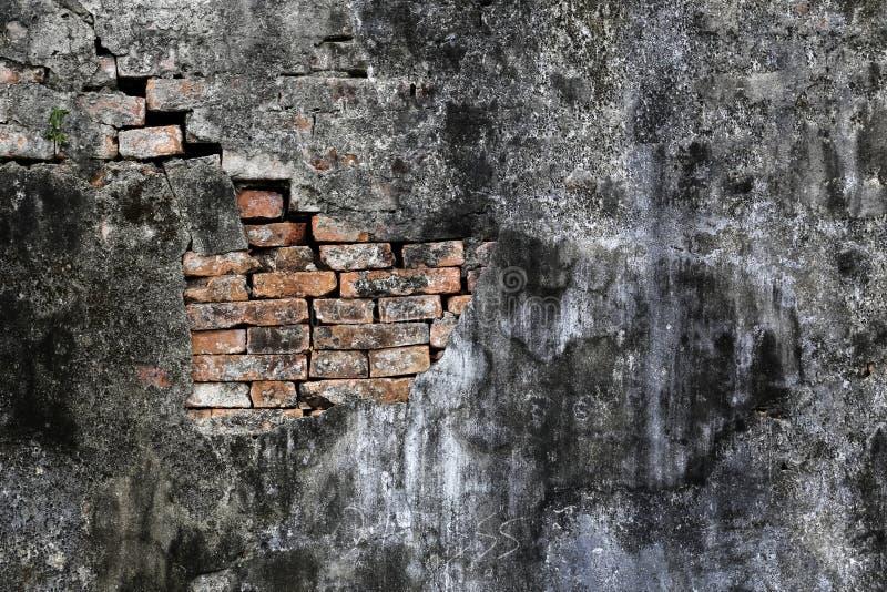被暴露的砖墙 免版税库存照片