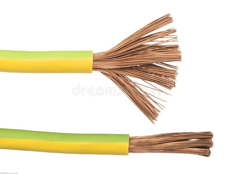 被暴露的缆绳和导线 库存照片