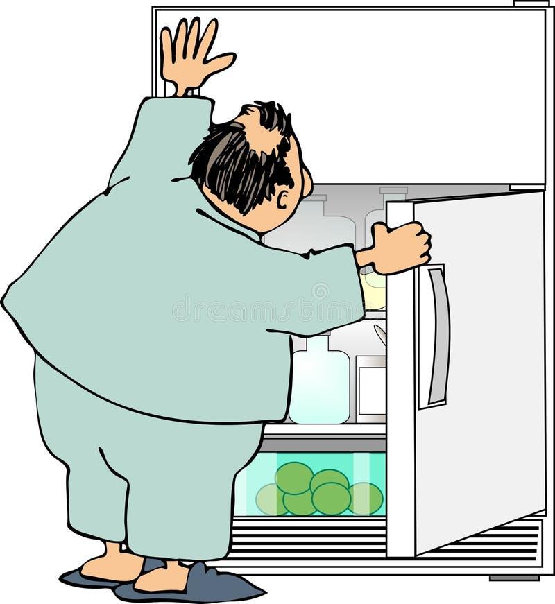 袭击冰箱 向量例证