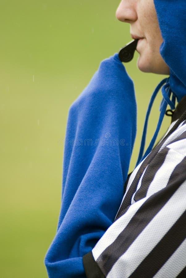 裁判足球 库存图片