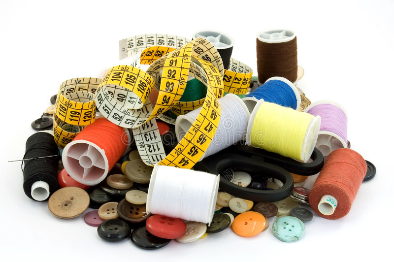 裁缝工具 免版税库存图片