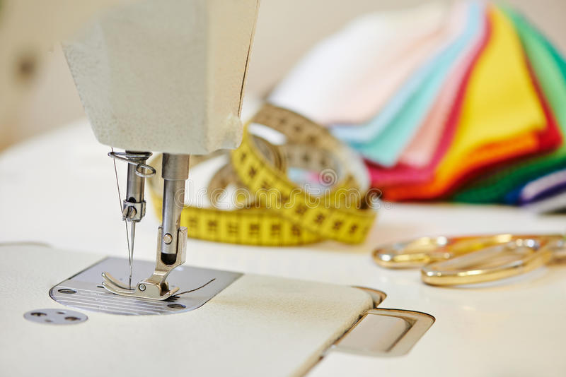 裁缝或缝合的设备 图库摄影