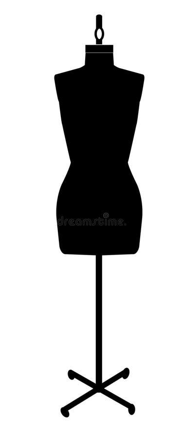 裁缝时装模特 库存例证