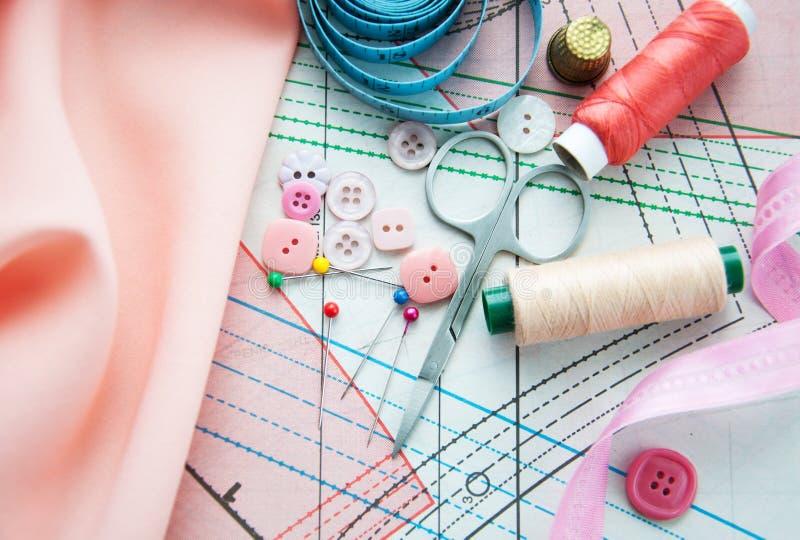 Download 裁缝的辅助部件 库存例证. 插画 包括有 自创, 粉红色, 刺绣用品, 线程数, 工具, 评定, 短管轴 - 30325741