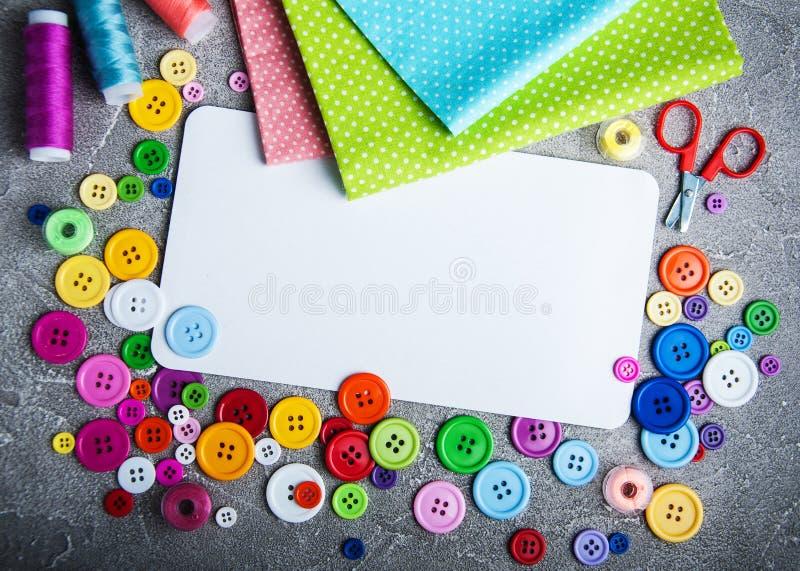 裁缝缝合的辅助部件 库存照片