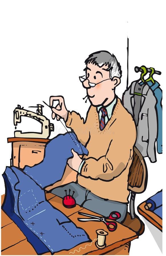 裁缝 向量例证