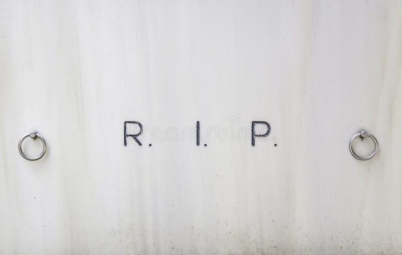裂口的注册在坟墓的 库存图片
