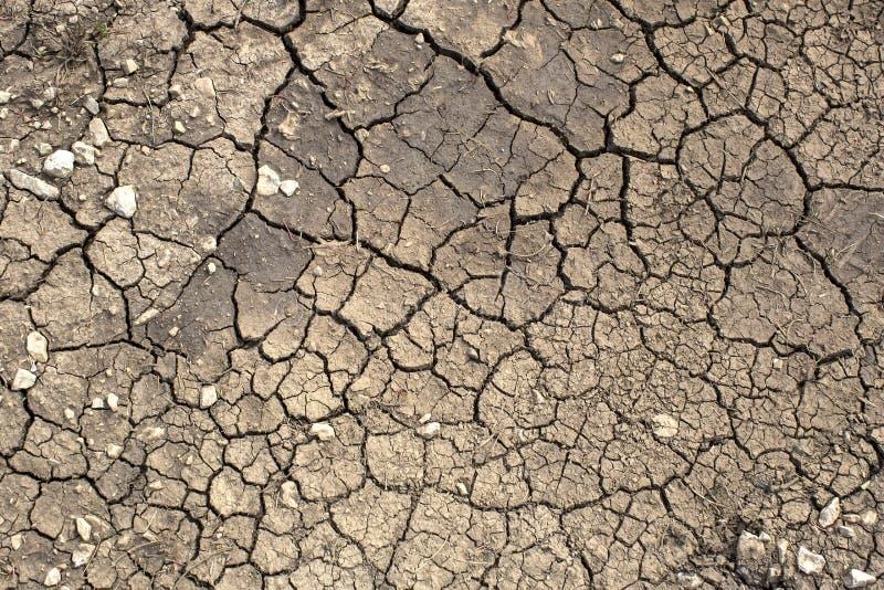 破裂的地球纹理 免版税库存图片