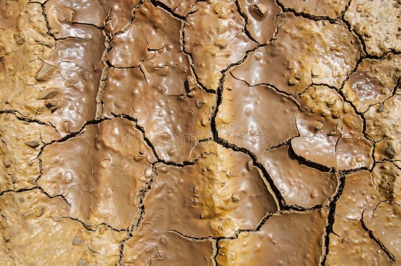 破裂的地球纹理 图库摄影