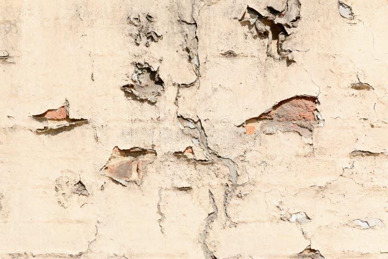 破裂的墙壁和膏药 免版税库存图片