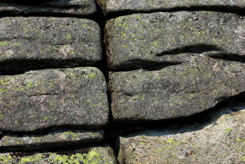 破裂的岩石纹理 免版税库存照片