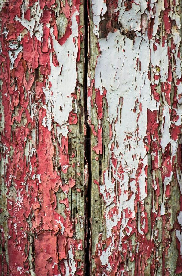 破裂的油漆木头纹理 库存照片