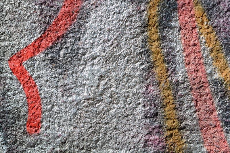 破裂的油漆混凝土墙纹理背景 库存照片