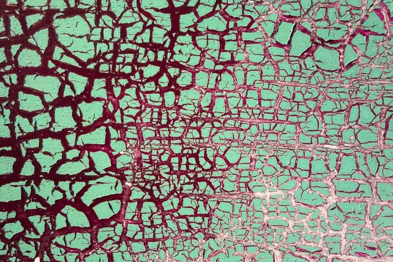 破裂的油漆-抽象难看的东西背景 免版税库存照片