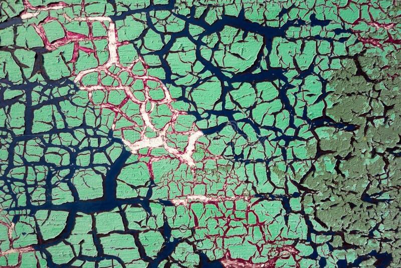 破裂的油漆-抽象难看的东西背景 库存照片