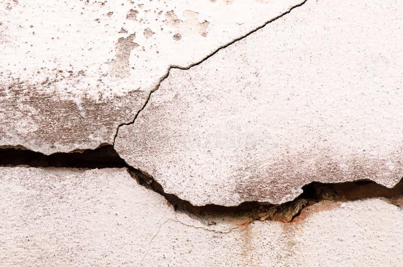 破裂的混凝土墙被构造的或背景,具体肮脏的机智 库存照片