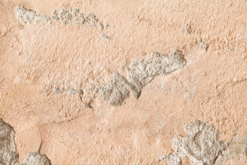 破裂的老墙壁难看的东西纹理 免版税库存照片