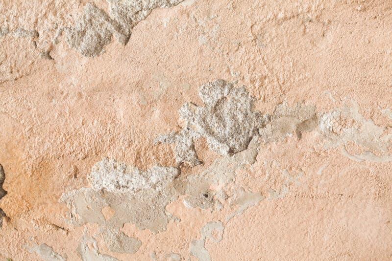 破裂的老墙壁难看的东西纹理 免版税库存图片