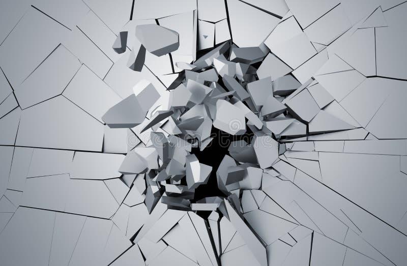 破裂的表面抽象3D翻译  向量例证