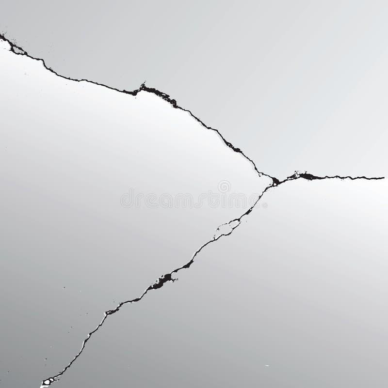 裂缝 向量例证