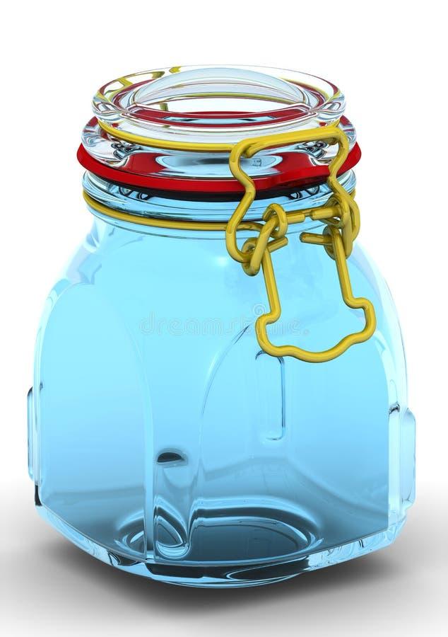 装于罐中的瓶子 向量例证