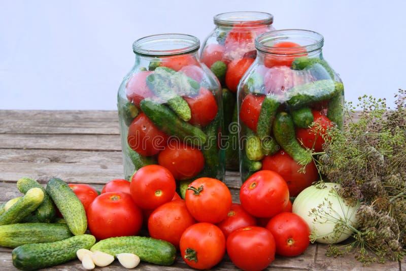 装于罐中蔬菜 免版税库存图片