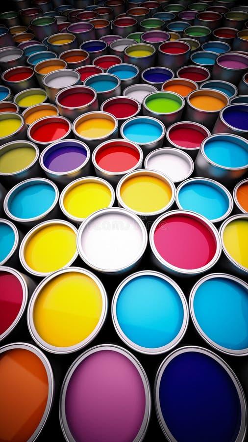 装例证油漆向量于罐中 库存照片