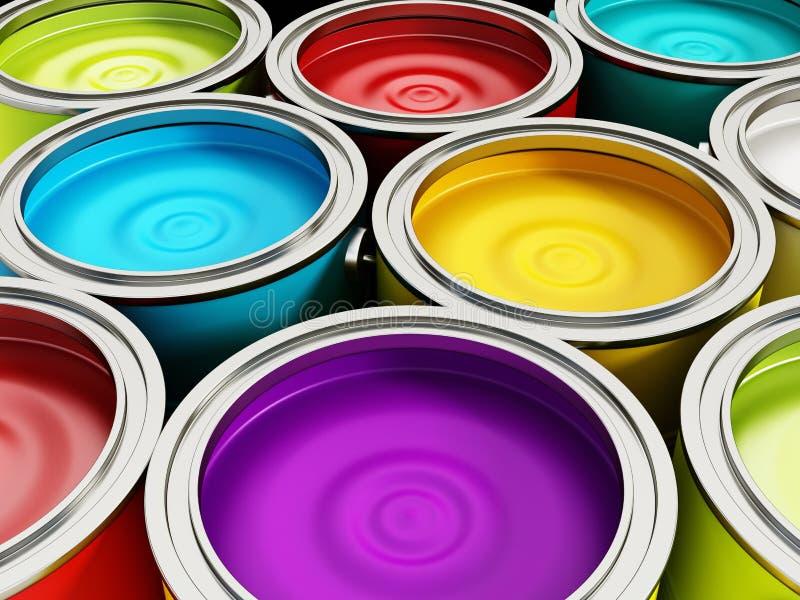 装例证油漆向量于罐中