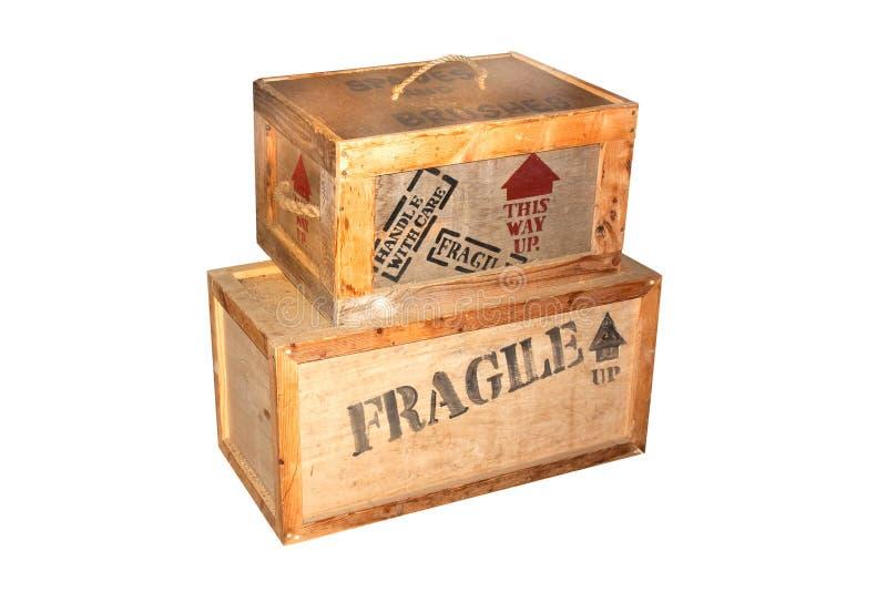 装入木脆弱的装箱 免版税库存照片