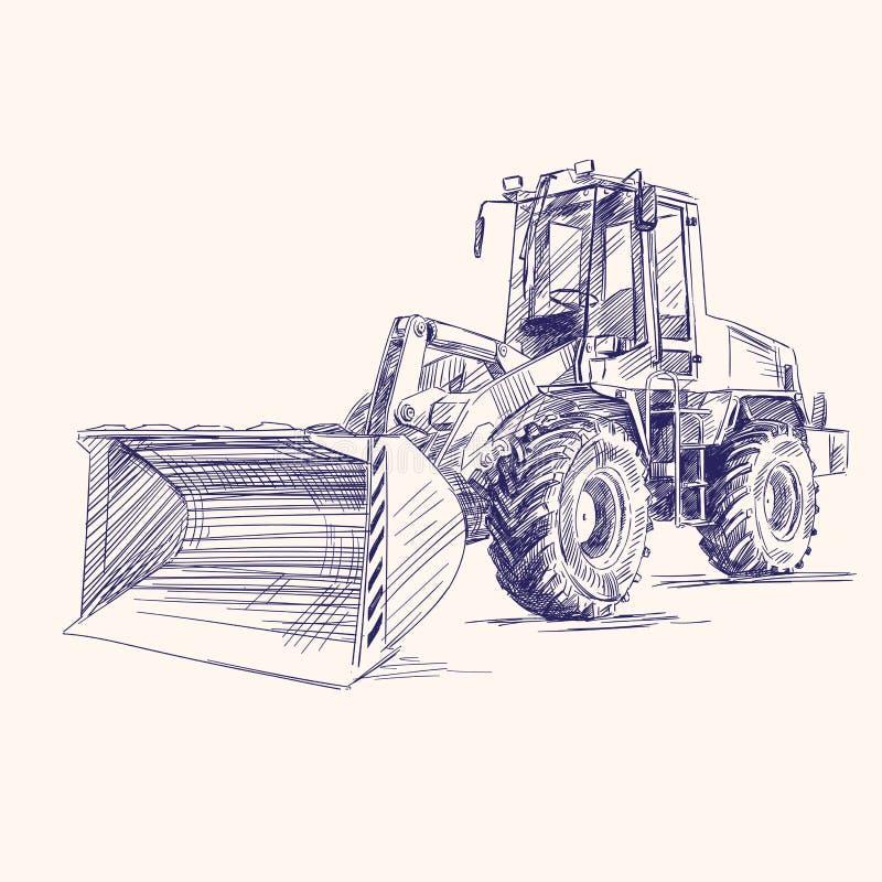 装入程序推土机挖掘机设备 皇族释放例证