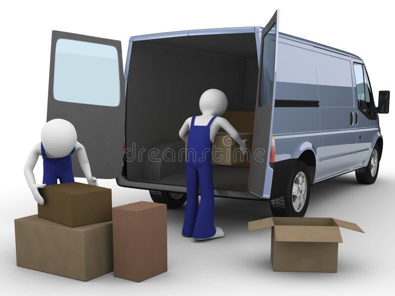 装入程序搬家工人 皇族释放例证