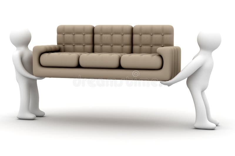 装入程序沙发调用 皇族释放例证