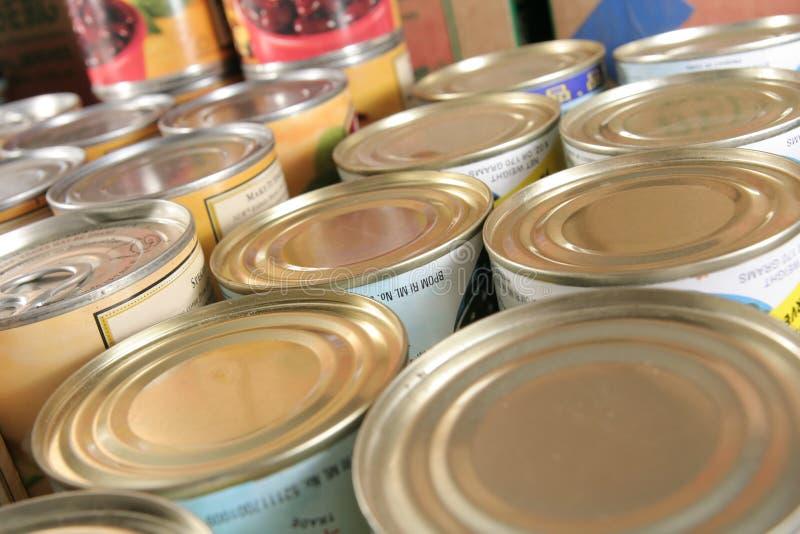装副食品于罐中 库存照片