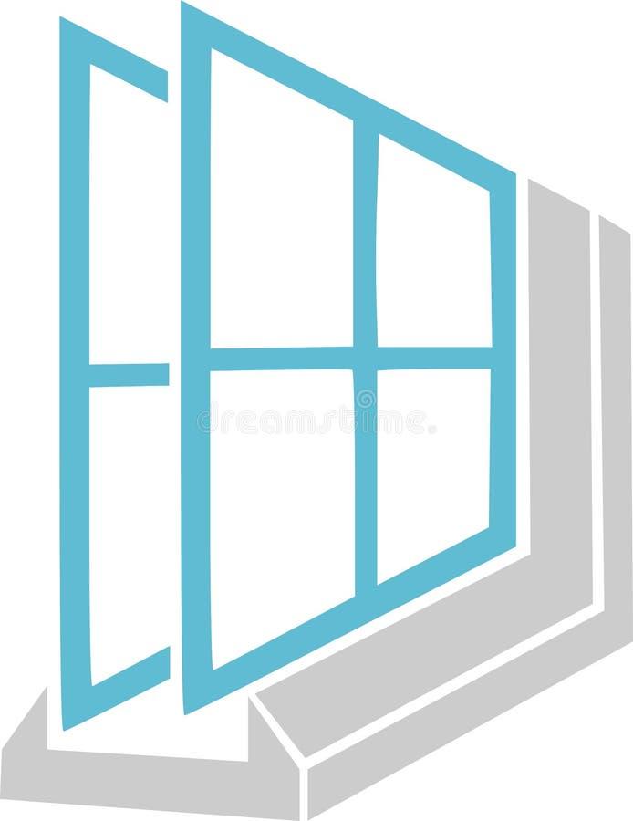 装双面玻璃的例证 皇族释放例证