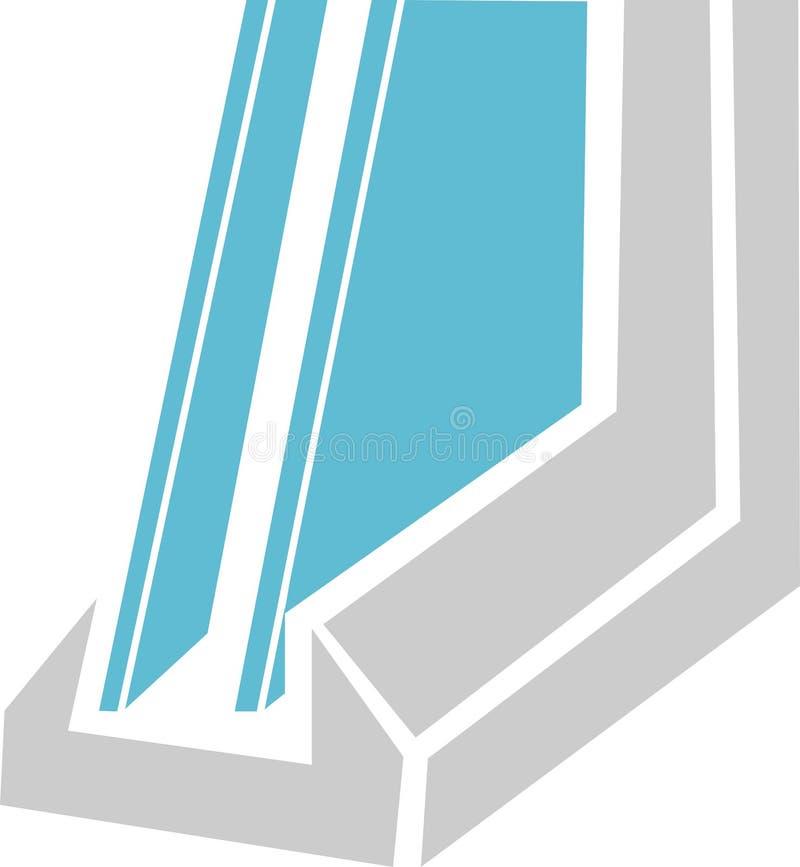 装双面玻璃的例证 库存例证