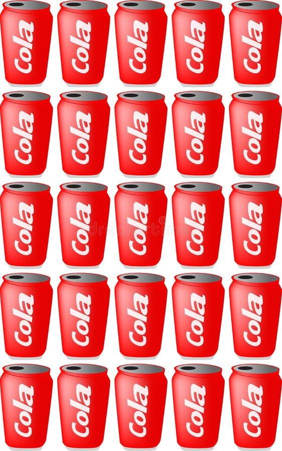 装可乐于罐中 向量例证