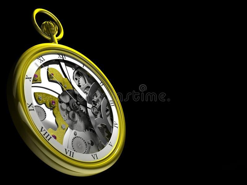 装在口袋里steampunk手表 皇族释放例证
