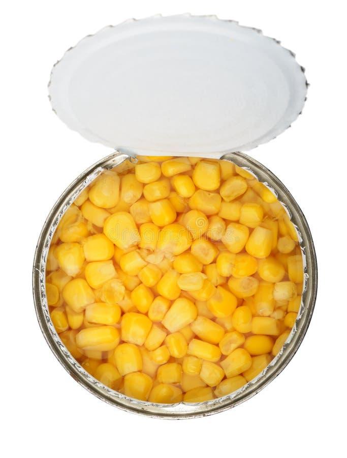 装玉米于罐中 库存照片