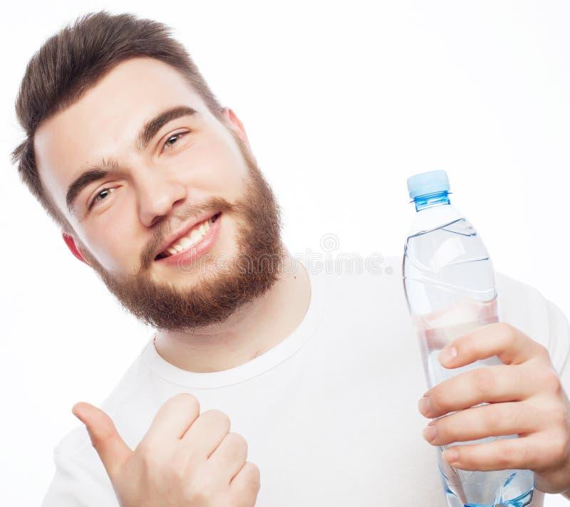 装瓶人水 库存图片