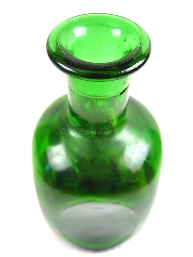 装瓶倾吐视图的前金子 库存照片