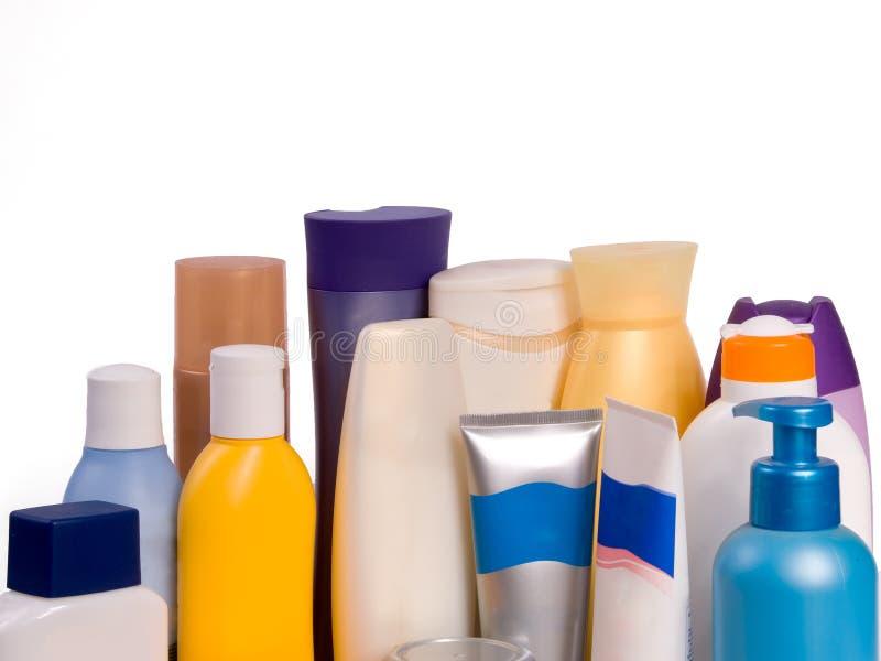 装瓶化妆用品 免版税图库摄影