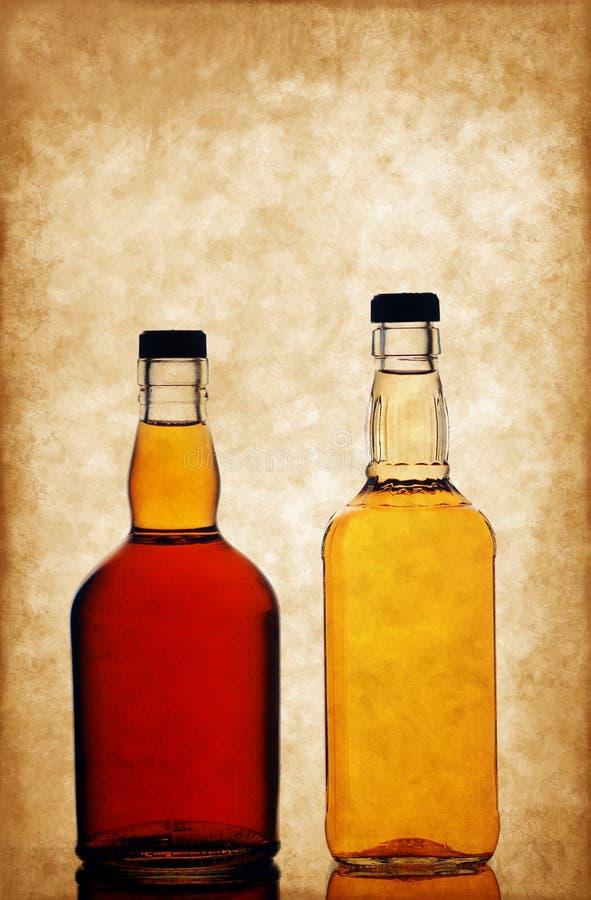 装瓶威士忌酒 库存照片