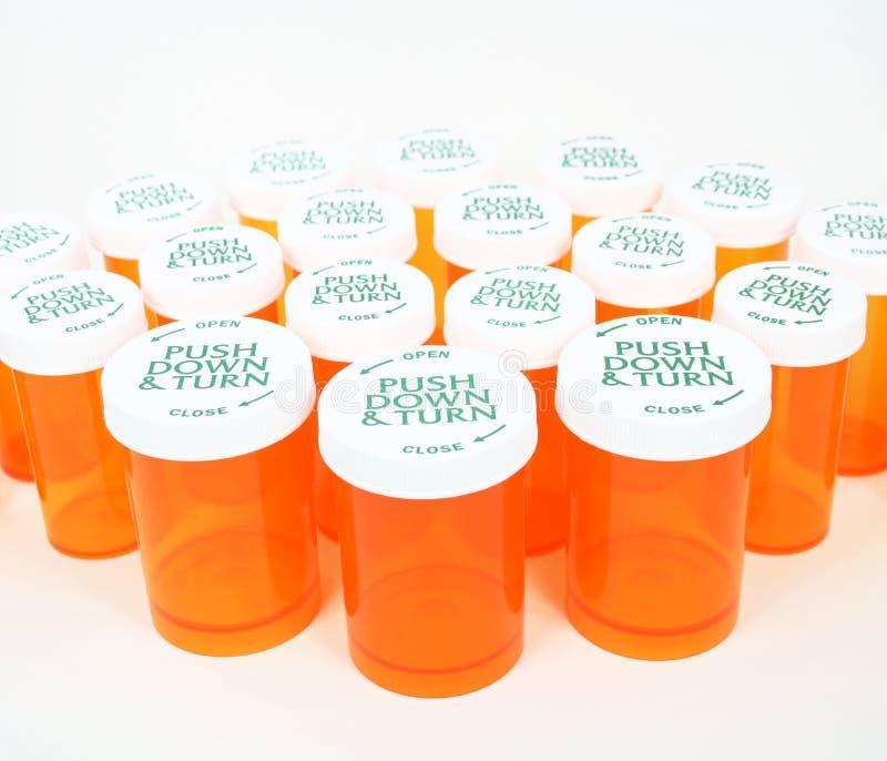 装瓶橙色药片 图库摄影