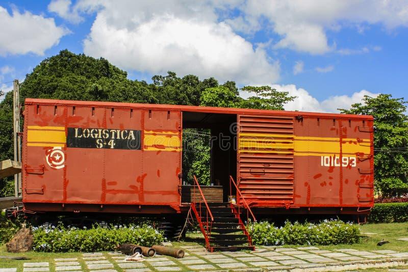 装甲列车在古巴 免版税库存图片