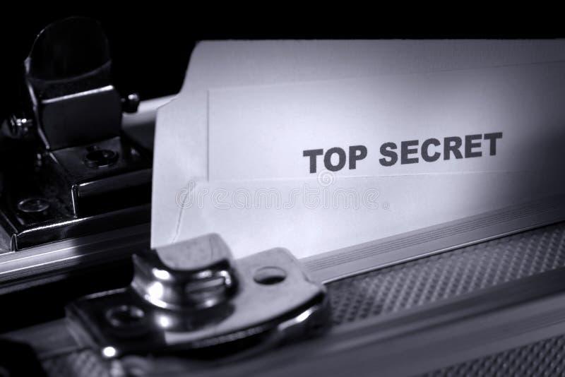 装甲的公文包文件秘密顶层 免版税库存照片
