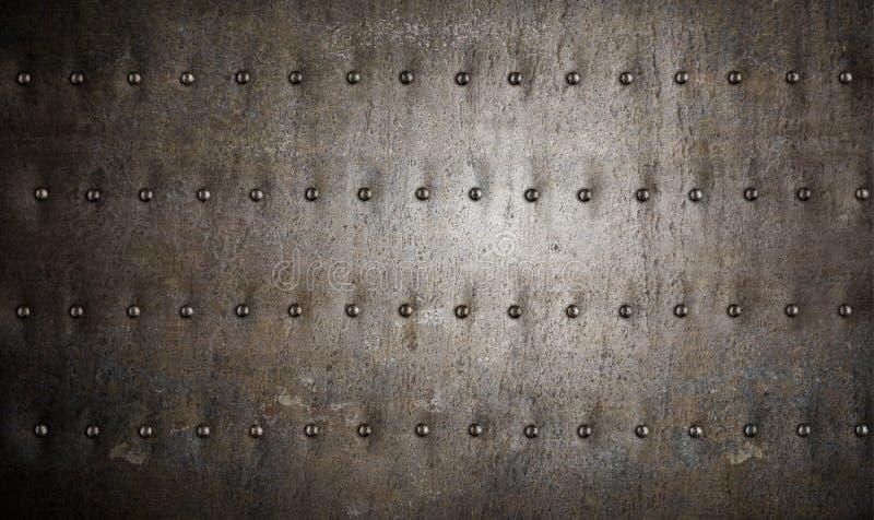 装甲背景金属铆钉 免版税库存照片