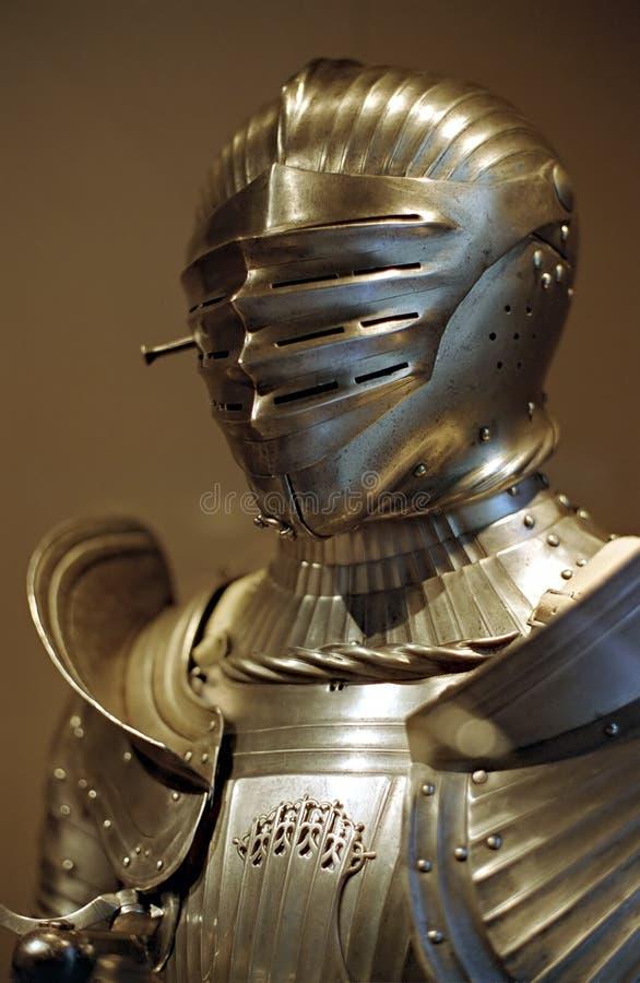 装甲金黄中世纪 库存照片