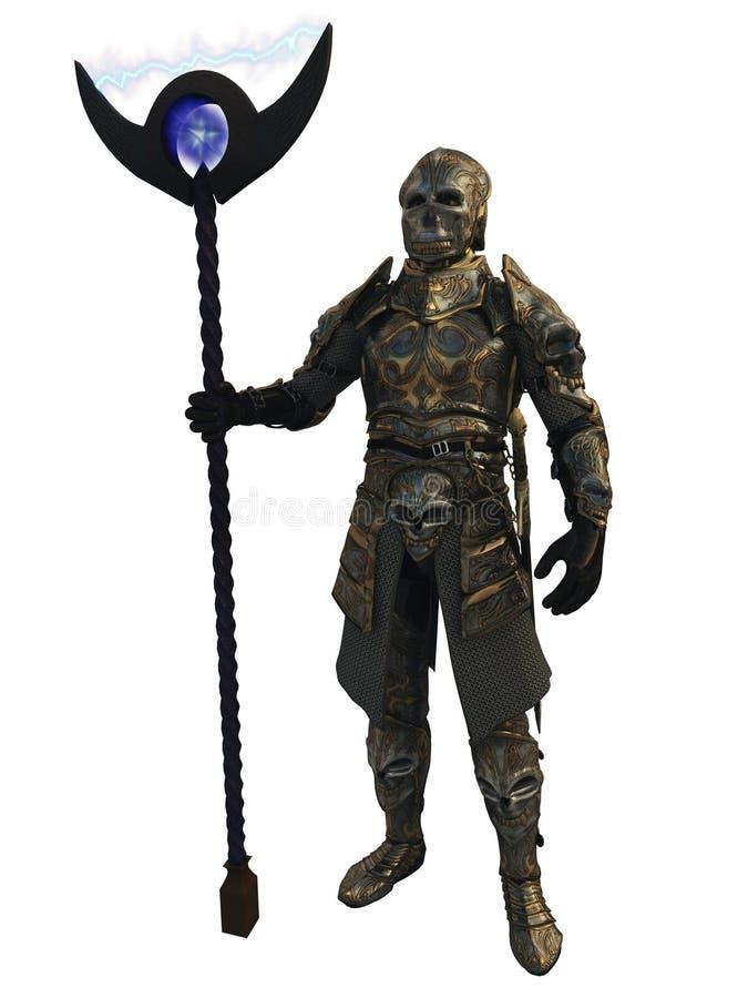 装甲黑暗的阁下银 皇族释放例证