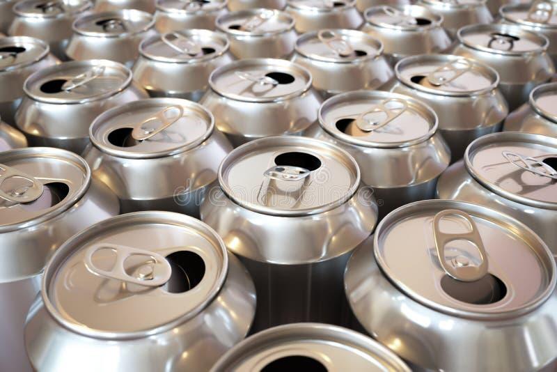 装碳酸钠于罐中 库存例证