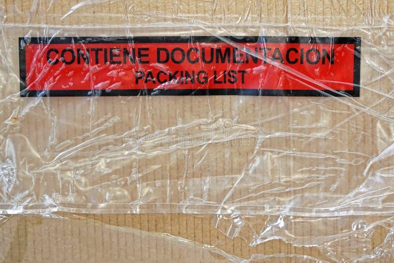 装箱单箱子 图库摄影